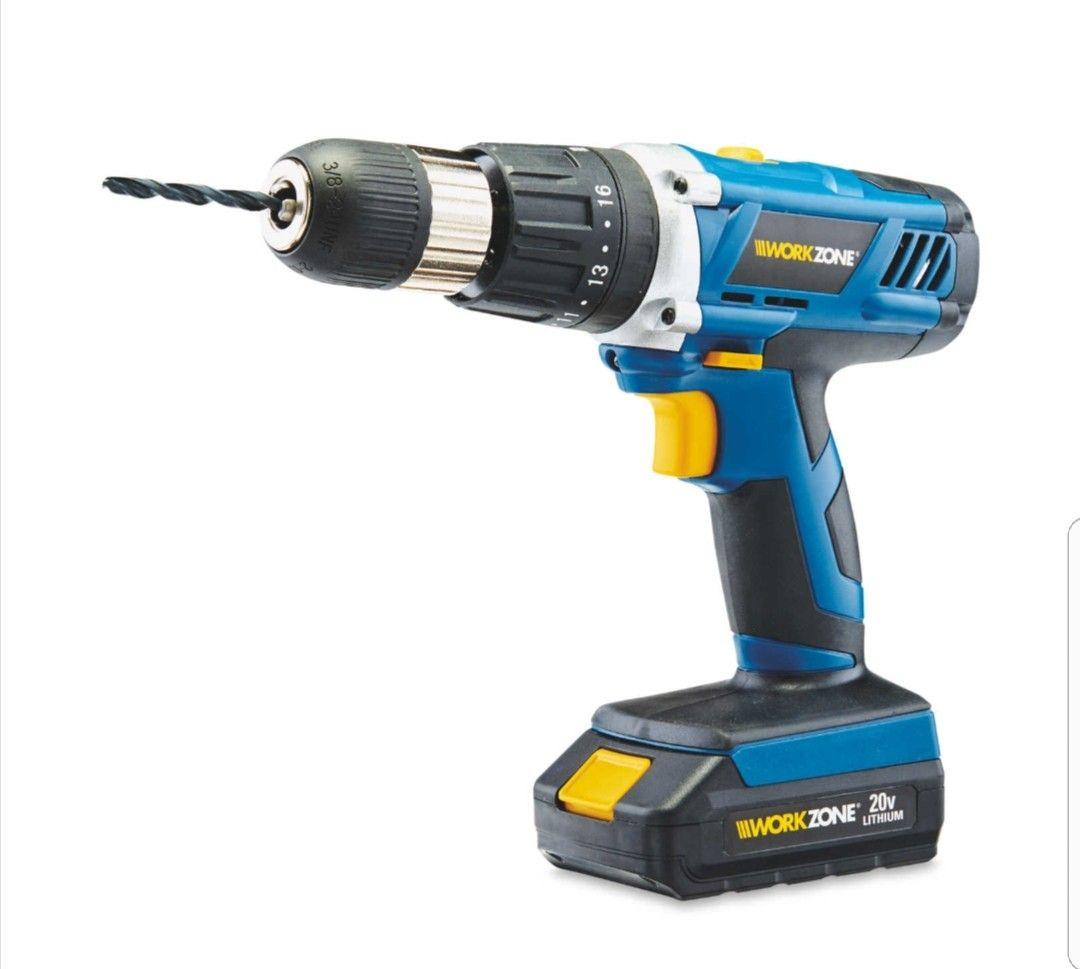 WORKZONE 20V Li-ion Cordless Hammer Drill £49.99 Aldi