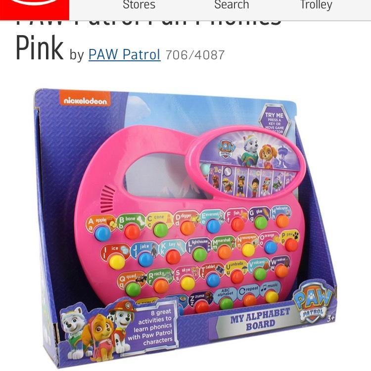 Paw Patrol Fun phonics (pink) £8.99 @ Argos