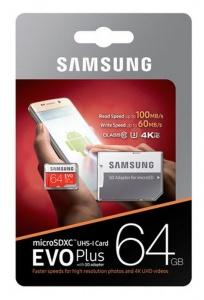 64GB Samsung EVO Plus U3 Micro SDXC Card + Adapter £17.99 @ PicStop
