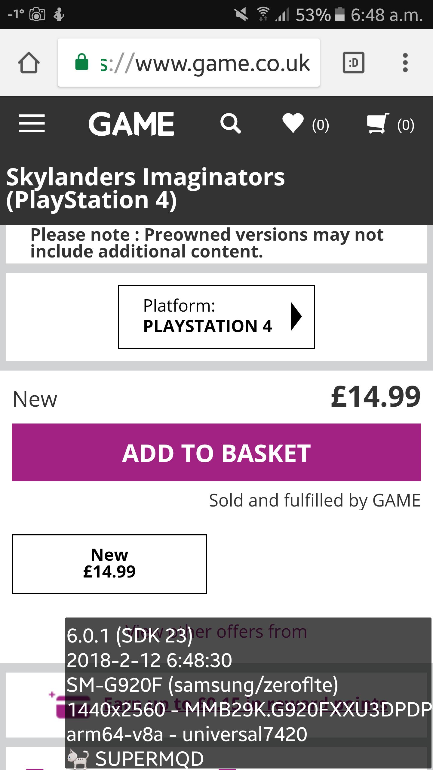 Skylanders Imaginators ps4 £14.99 @ game