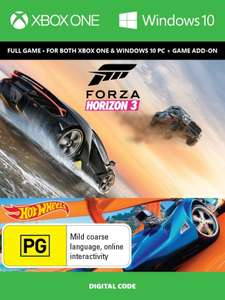 Forza Horizon 3 + Hot Wheels Xbox One/PC Digital Code £19.49 / £18.52 with fb code @ CDKeys