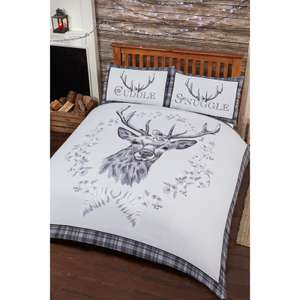 Brushed cotton stag design duvet king or double same price originally £24.99 B & M
