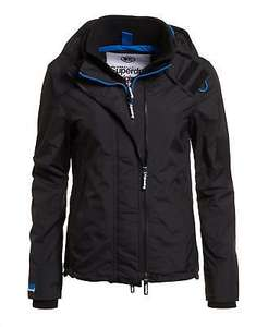 New Womens Superdry Technical Hooded Pop Zip Windcheater Black £37.99 delivered @ Superdry eBay