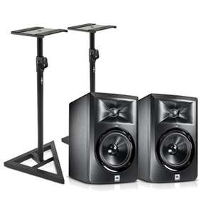 Pair of JBL LSR305 Active Studio Monitors with Stands + 2 Year Warranty £205.48 Delivered @ Gear4Music