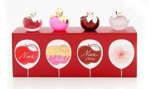 Four-Piece Nina Ricci Miniature Gift Set 4 x 4ml £23.99 delivered @ Groupon
