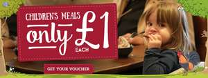 Kids eat for  £1 (Toby Carvery)
