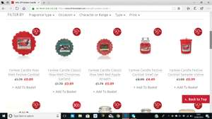 50% Off Yankee Candle at Clintons small jars £4.49 and medium £9.99 - delivery from £3.49