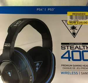 Turtle Beach ear force stealth 400 wireless headset (ps4/ps3) £25 - Instore at Tesco (Bradley stoke)