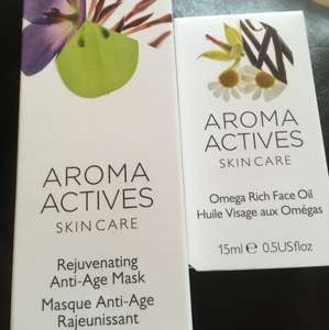 Aroma Actives skincare - 89p each instore @ Home Bargains