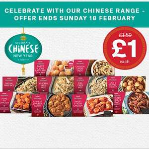 Iceland Chinese Dishes all £1.00 Each - Instore and Online