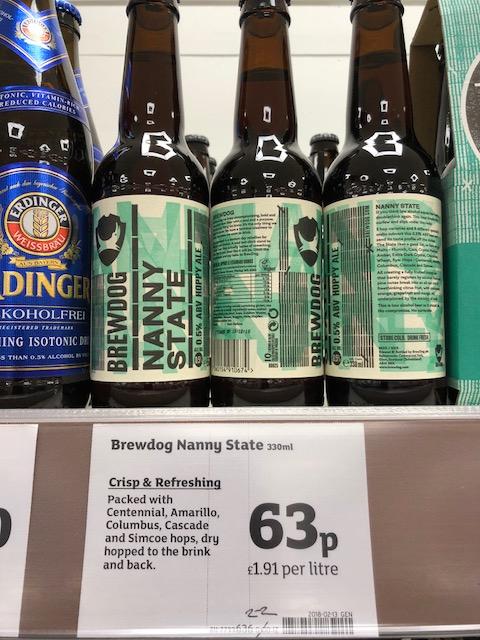 Brew Dog Nanny State 330ml bottle 63p @ Sainsbury's - Sittingbourne