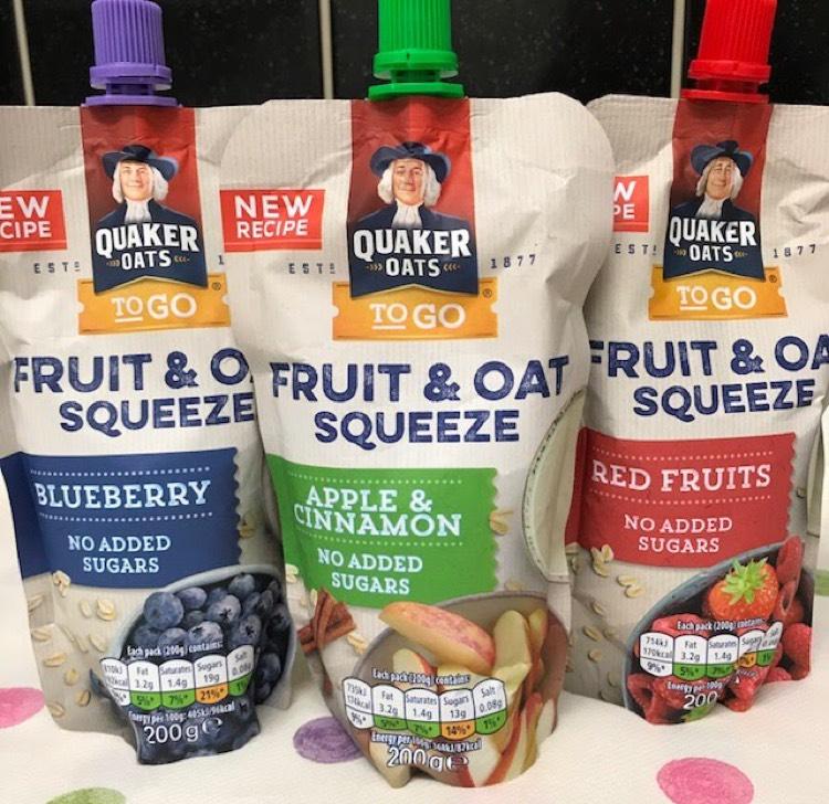 Quaker Fruit & Oat squeeze 200g - 25p @ Heron