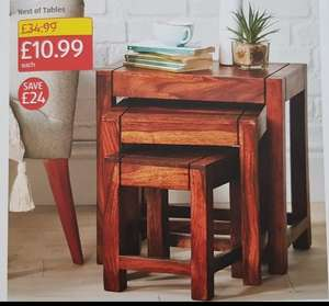Aldi new store opening offers at Burton Road Derby on 22 Feb - Nest of tables £10.99