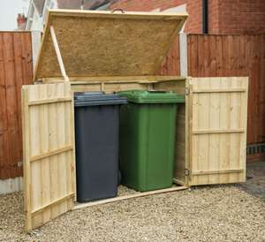 Forest Garden Wooden Wheelie Bin Store was £119.99 now £49.99 @ Wickes & Forest Garden Wooden Wheelie Bin Store was £119.99 now £49.99 ...