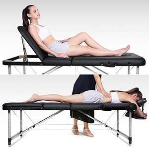 Naipo Massage Table Deluxe Professional 3 Section Portable Bed Couch with Aluminum Feet for Reiki Healing Tattoo Swedish Thai Massage 14.5KG (load capacity 250KG) Sold by Naipo Care and Fulfilled by Amazon £129.99 was £259.00
