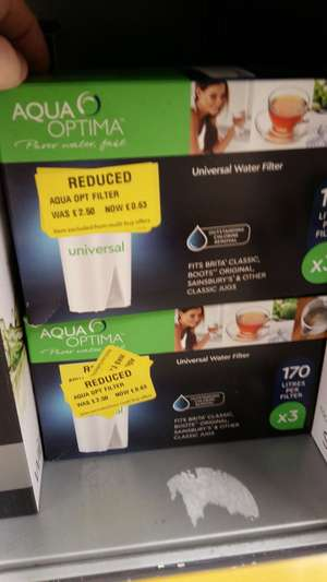 Aqua Optima Universal Water Filter x3 - 0.63p Reduced @ Morrisons