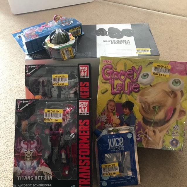 Tesco instore massive clearance e.g Transformers toys £1.56, Salter juicer 0.32p