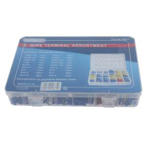 360pc Assorted Insulated Electrical Wire Terminal Crimp Connector Spade Set Kit £4.99 @  L.M ELECTRICAL Ebay