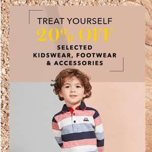 George Asda 20% off selected kids clothing, footwear & accessories. Over 1000 items