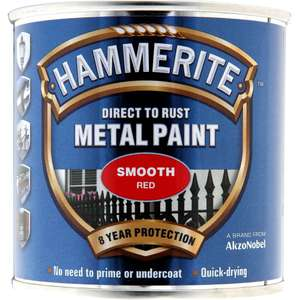 Smooth gloss red (other colours availible) Hammerite £4.75 @ Wilko