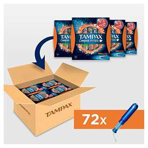Tampax Compak Pearl Super Plus, 4 x 18 Count, Super Saving Box