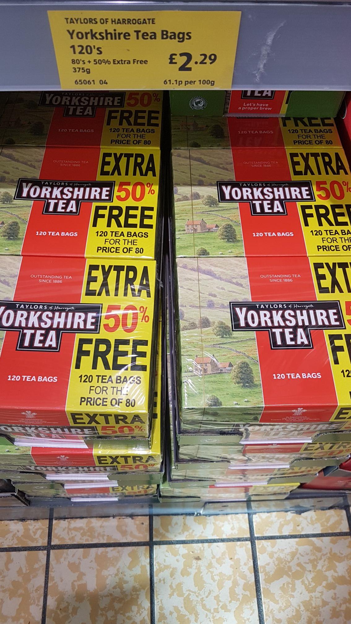 Yorkshire tea - box of 120 £2.29 @ Aldi