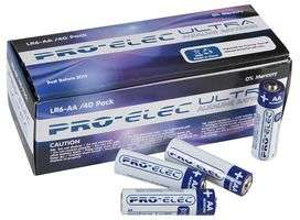PRO ELEC Ultra Alkaline AA Batteries 40 Pack £5.80 / £6.96 inc vat @ CPC delivered