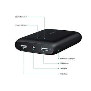 AUKEY Portable Charger 10000 mAh Powerbank, Micro USB Input and 2 AiPower Outputs  £7.99 Prime / £10.98 non prime  Sold by yueying and Fulfilled by Amazon