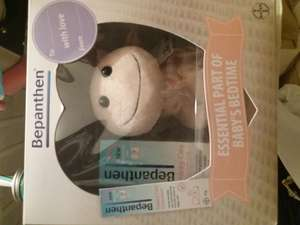 Bepanthen 30g and cuddly toy set 75p boots instore