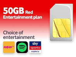 Vodafone 12m sim -  50GB/Unlimiteds £30/12mths (£22.50pm after £90 cashback) @ Mobiles.co.uk