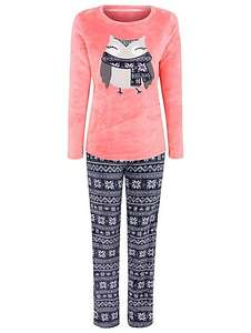 Ladies cute owl soft fleece pyjamas size 16-18 was £10 now £5 @ asda george