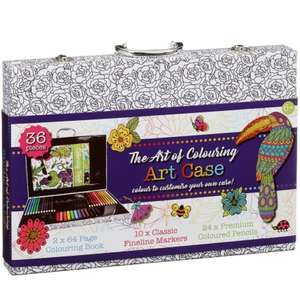 The Art of Colouring Art Case and Contents - £1 instore @ B&M