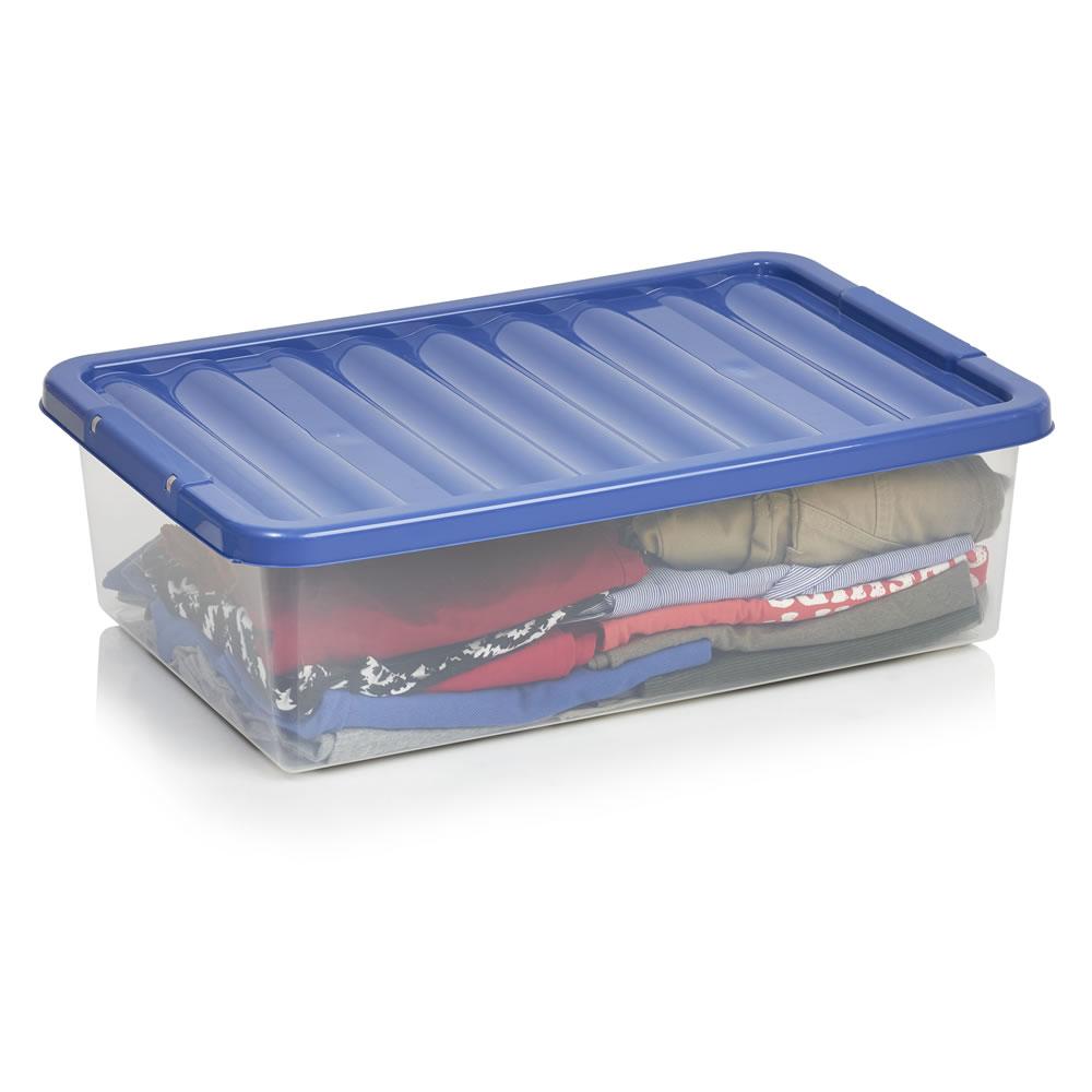 Modular\ storage\underbed boxes reduced * eg,Under bed storage box 32 Litres blue\ pink £3 or 45 Litres £5 @ Wilko