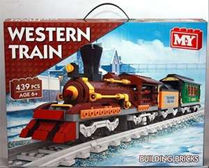 M.Y Western Train Building Bricks Set 439 Pieces - £11.16 (Prime) £15.91 (Non Prime) @ Sold by Surplus Trade Supplies and Fulfilled by Amazon