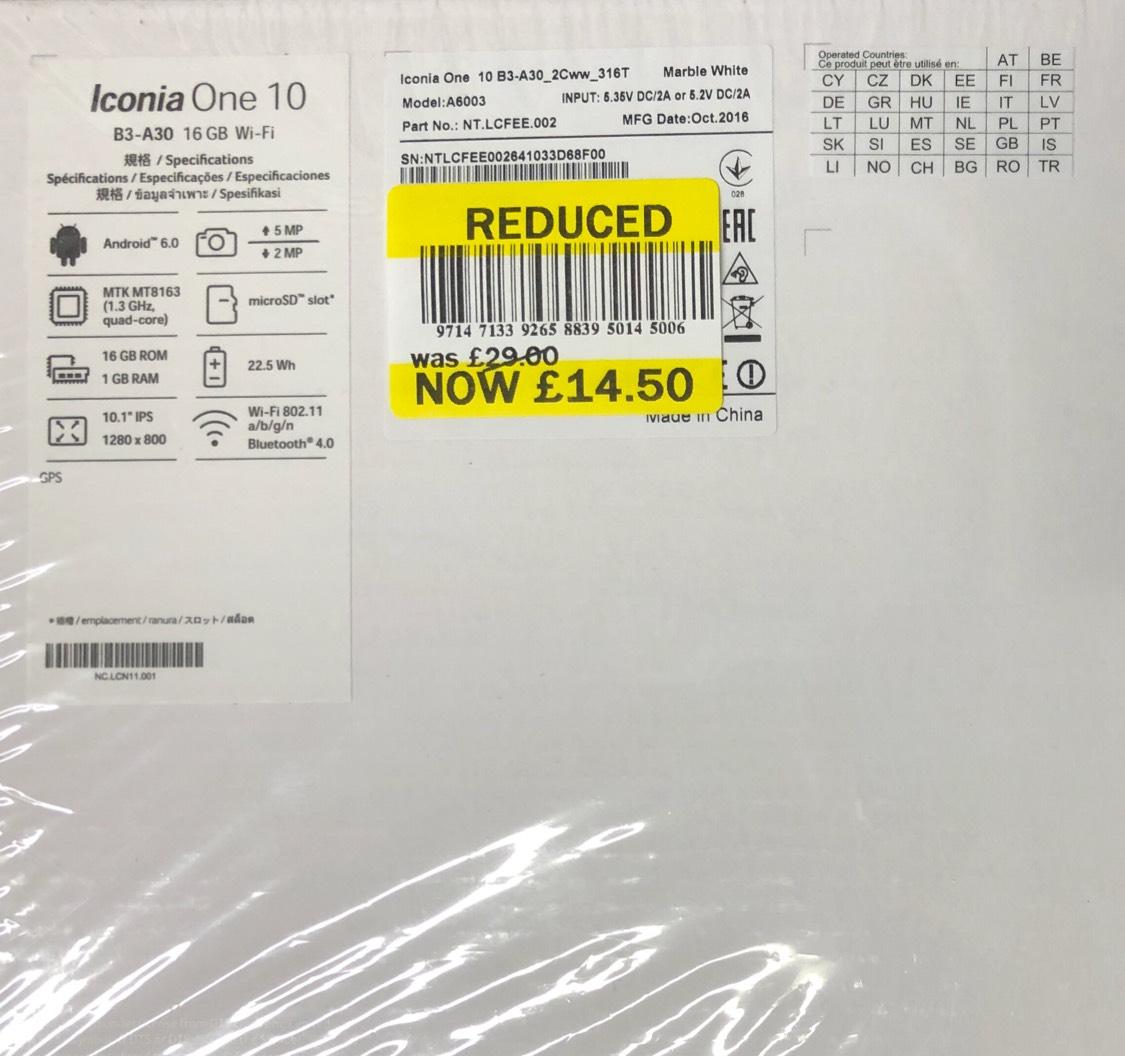 "Acer iconia one 10"" tablet £14.50 - in store - Tesco (Bradley stoke)"