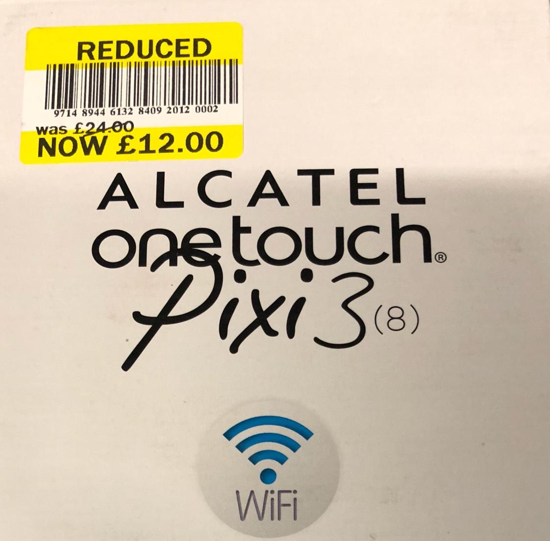 "Alcatel one touch pixi 3 8"" tablet £12 - in store - Tesco (Bradley Stoke)"