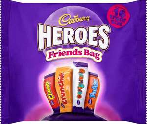 MEGA DEAL Cadbury Heroes Friends Bag 16 Treat Size 225g 1p @ approved food (+£5.99 delivery)