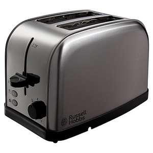 Russell Hobbs Futura 2-Slice Toaster, Silver for £9.97 @ John Lewis (C&C £2)