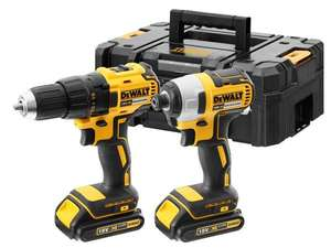 2X2AH XR LI-ION BRUSHLESS COMBI/IMPACT TWIN KIT. 187.20 delivered @ UK tool centre