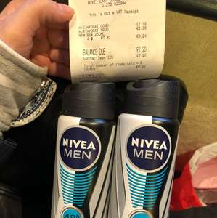 Nivea Men's invisible Deodorant 250ml 81p @ Superdrug - Hove