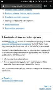 Claim tax back on your professional fees on Government gateway website