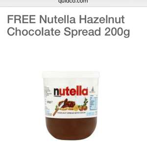 Quidco clicksnap free Nutella 200g (£1.60) - sign in required - Available in Tesco's, Sainsbury's, Morrison's, Asda, Waitrose - Account specific?