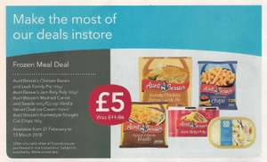Frozen meal deal at Co-op £5.00 was £11.86 - Available from 21st February