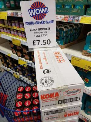 Koka Noodles 85g (chicken/curry) 30pack only £7.50 @ B&M