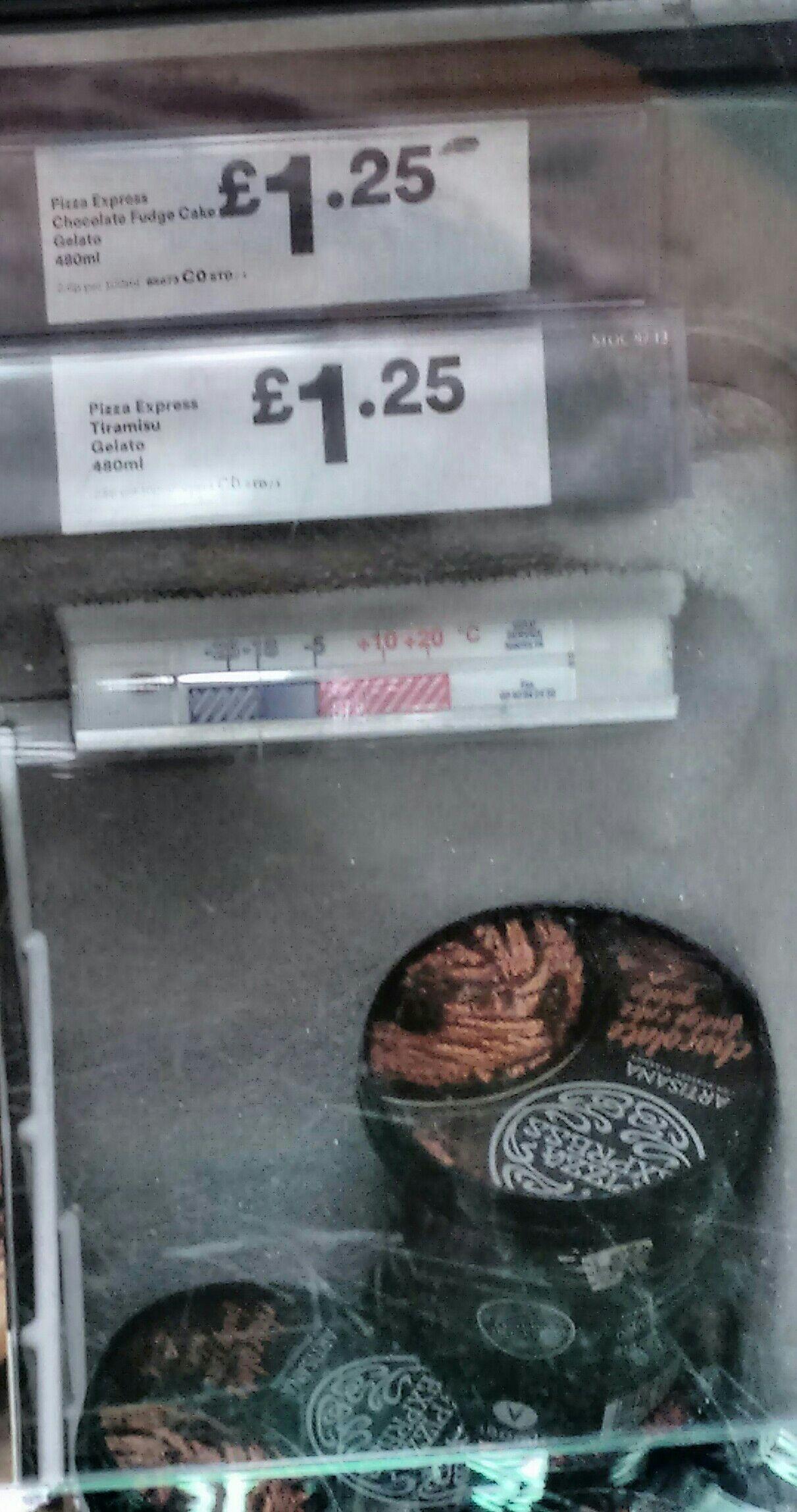 Iceland: Pizza Express gelato 480 ml half price £1.25