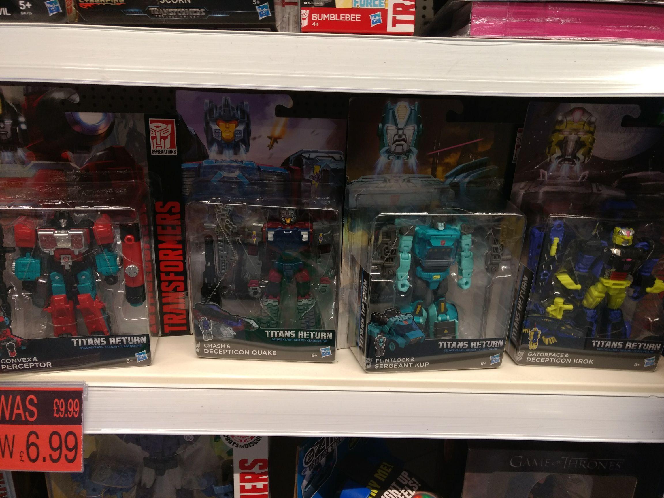 Transformers Titans Return B&M Bargains - £5.99