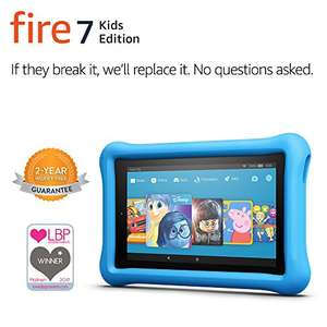 "Fire 7 Kids Edition Tablet, 7"" Display, 16 GB, Blue, Pink or Yellow Kid-Proof Case - £79.99 @ Amazon"