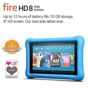 "Fire HD 8 Kids Edition Tablet, 8"" Display, 32 GB, Blue, Pink or Yellow Kid-Proof Case - £99.99"