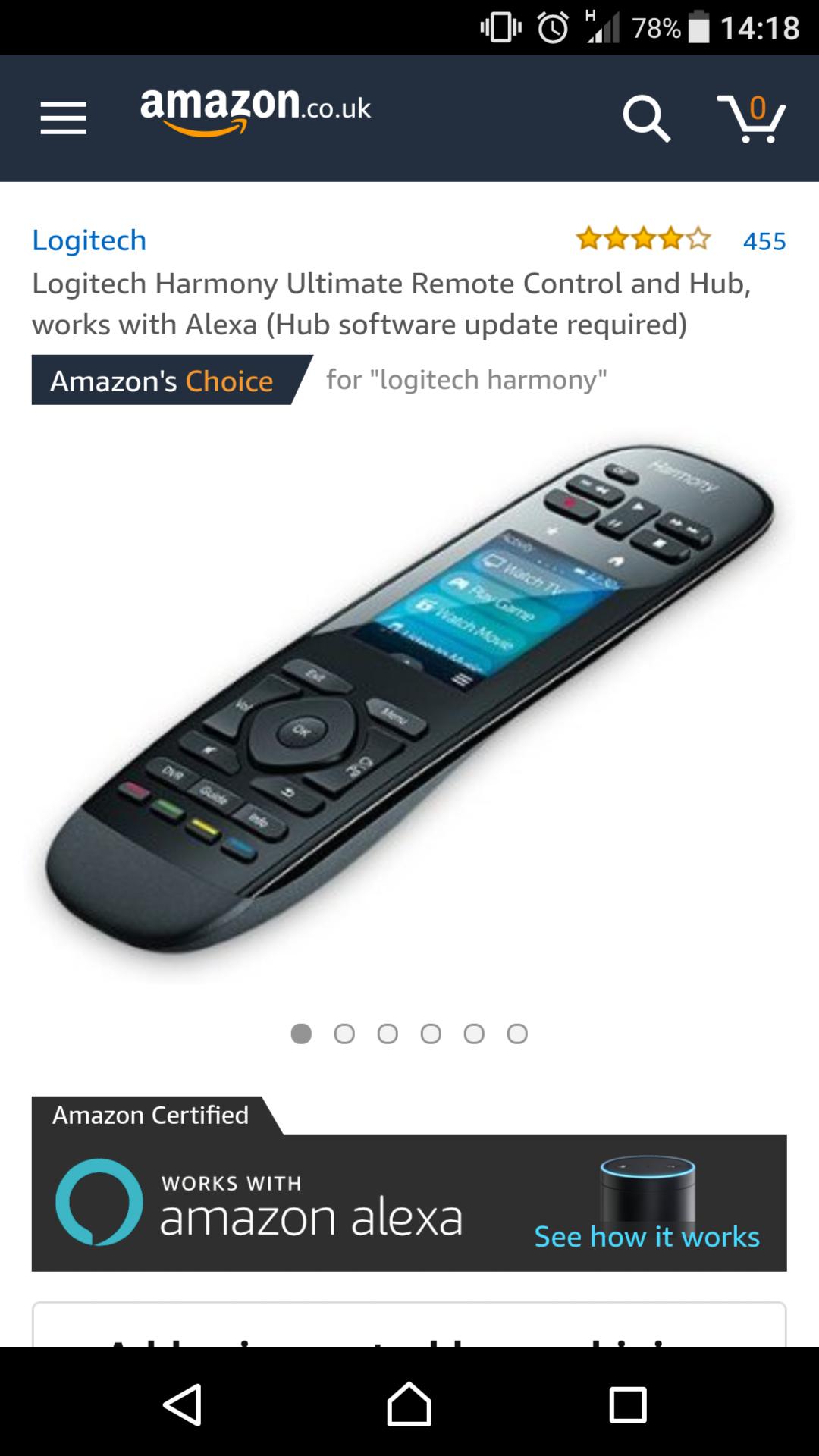 Logitech Harmony Ultimate Remote Control and Hub - £99 @ Amazon