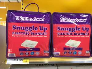 Slumberdown snuggle up kingsize electric blanket rtc £13.50 in Tesco